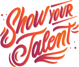 talent show school fundraising idea logo