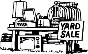 yard sale image for school fundraising ideas